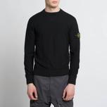 Мужская толстовка Stone Island Sweat Garment Dyed Black фото- 6