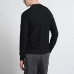 Мужская толстовка Stone Island Sweat Garment Dyed Black фото- 7
