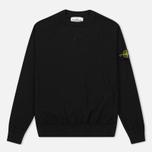Мужская толстовка Stone Island Sweat Garment Dyed Black фото- 0
