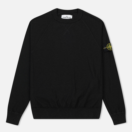 Мужская толстовка Stone Island Sweat Garment Dyed Black