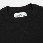 Мужская толстовка Stone Island Sweat Garment Dyed Black фото- 1