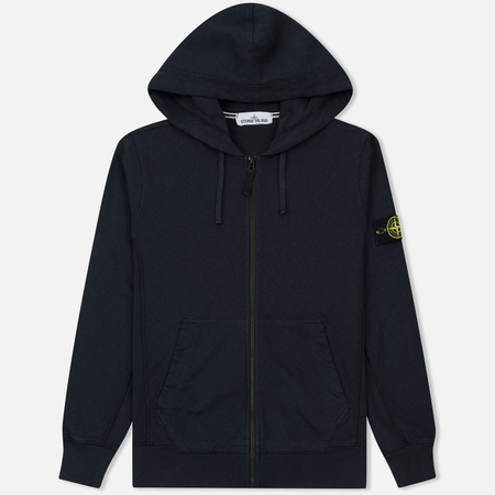Мужская толстовка Stone Island T.CO+OLD Hooded Full Zip Navy