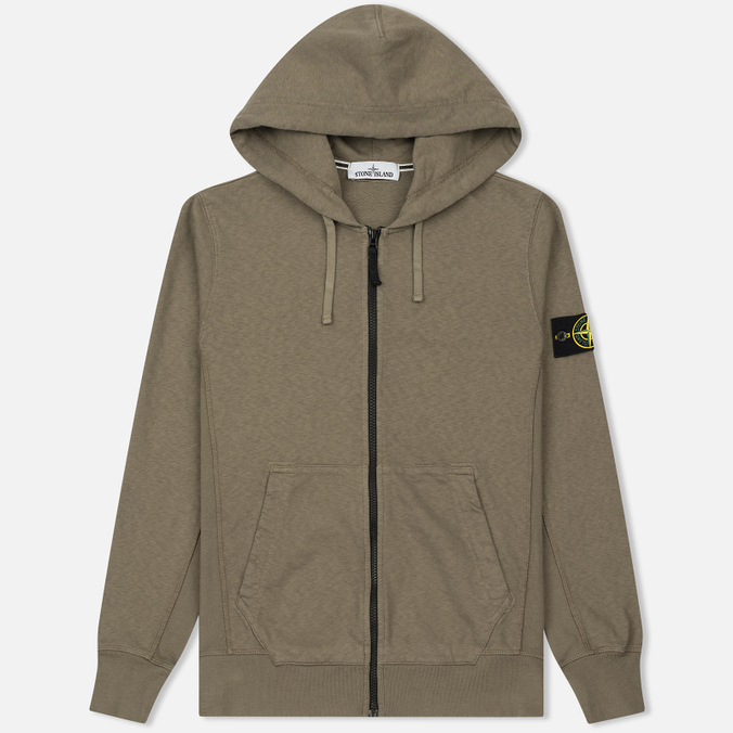Мужская толстовка Stone Island T.CO+OLD Hooded Full Zip Olive