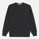 Мужская толстовка Stone Island Washed Crew Dark Grey фото- 0