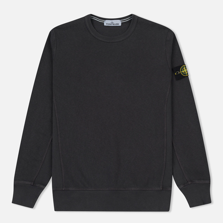 Мужская толстовка Stone Island Washed Crew Dark Grey