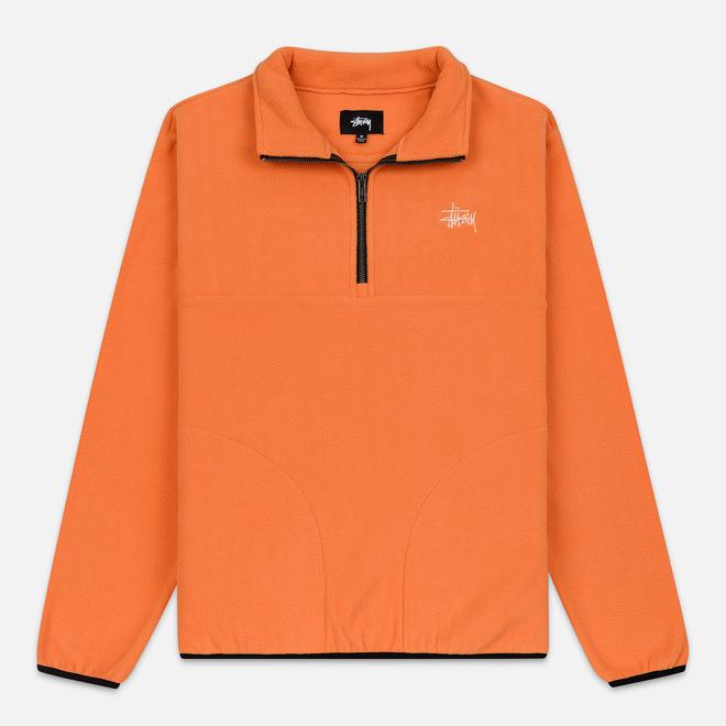 Мужская толстовка Stussy Basic Polar Fleece Orange