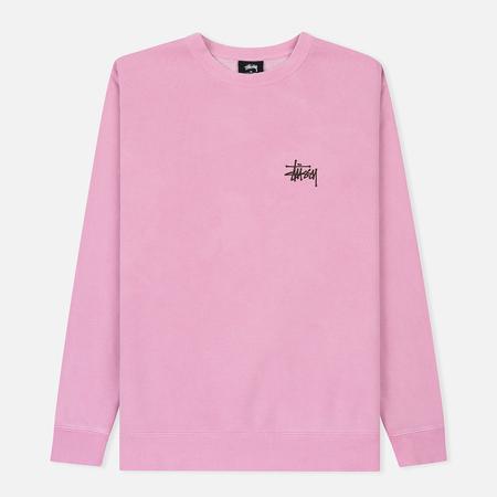 Мужская толстовка Stussy Basic Stussy Crew Printed Logo Pink