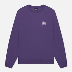 Мужская толстовка Stussy Basic Stussy Crew Screenprint Purple/White