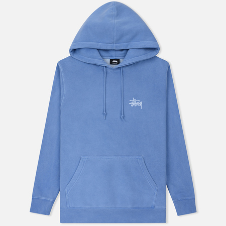Мужская толстовка Stussy Basic Stussy Printed Logo Hoodie Blue