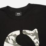 Stussy Camo S Crew Men's Sweatshirt Black photo- 1