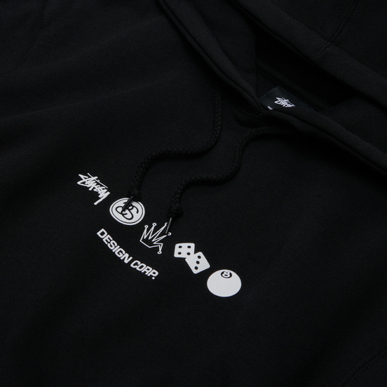 Мужская толстовка Stussy Global Design Corp Hoodie Black
