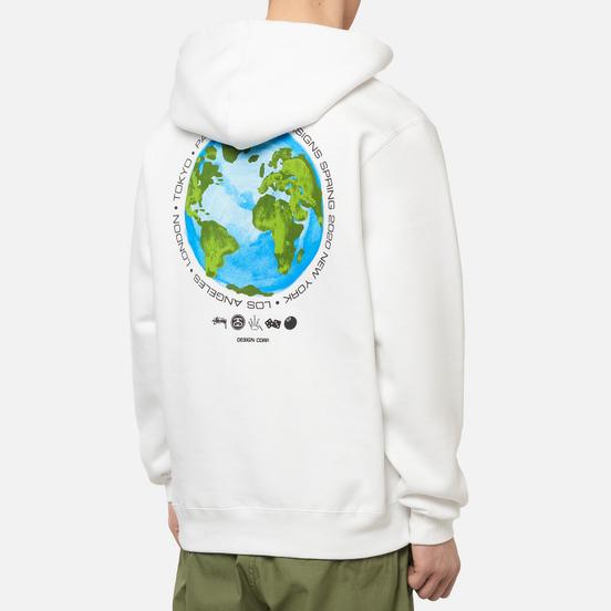 Мужская толстовка Stussy Global Design Corp Hoodie White