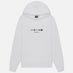 Мужская толстовка Stussy Global Design Corp Hoodie White