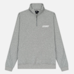 Мужская толстовка Stussy Nylon Panel Mock Grey Heather фото- 0