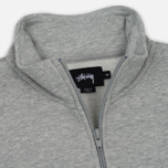 Мужская толстовка Stussy Nylon Panel Mock Grey Heather фото- 1