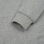 Мужская толстовка Stussy Nylon Panel Mock Grey Heather фото- 3