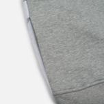 Мужская толстовка Stussy Nylon Panel Mock Grey Heather фото- 4