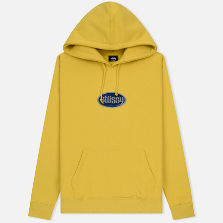 Мужская толстовка Stussy Oval Applique Hoodie Yellow