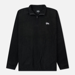 Мужская толстовка Stussy Polar Fleece Half Zip Black фото- 0