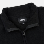 Мужская толстовка Stussy Polar Fleece Half Zip Black фото- 1