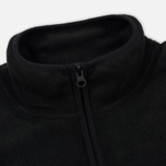 Мужская толстовка Stussy Polar Fleece Half Zip Black фото- 2