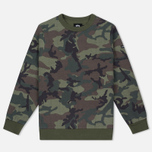Мужская толстовка Stussy Quilted Crew Neck Camouflage фото- 0