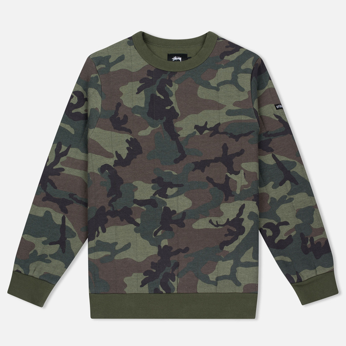 Мужская толстовка Stussy Quilted Crew Neck Camouflage