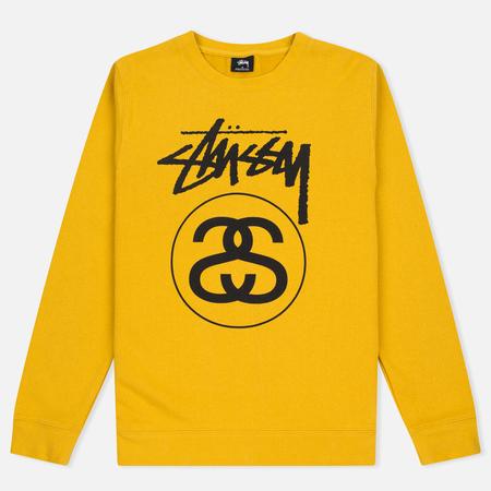 Stussy Stock Link Crew Men's Sweatshirt Mustard
