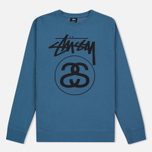 Stussy Stock Link Crew Men's Sweatshirt Steel photo- 0
