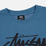 Stussy Stock Link Crew Men's Sweatshirt Steel photo- 1