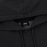 Мужская толстовка Stussy Stock Pigment Dyed Hoodie Black фото- 1