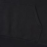 Мужская толстовка Stussy Stock Pigment Dyed Hoodie Black фото- 3