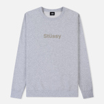 Мужская толстовка Stussy Stussy Weld Applique Crew Grey Heather фото- 0
