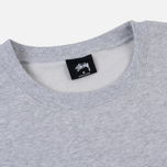 Мужская толстовка Stussy Stussy Weld Applique Crew Grey Heather фото- 1