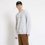 Мужская толстовка Stussy Stussy Weld Applique Crew Grey Heather фото- 4