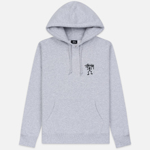 Мужская толстовка Stussy Warrior Man Hoodie Ash Heather фото- 0