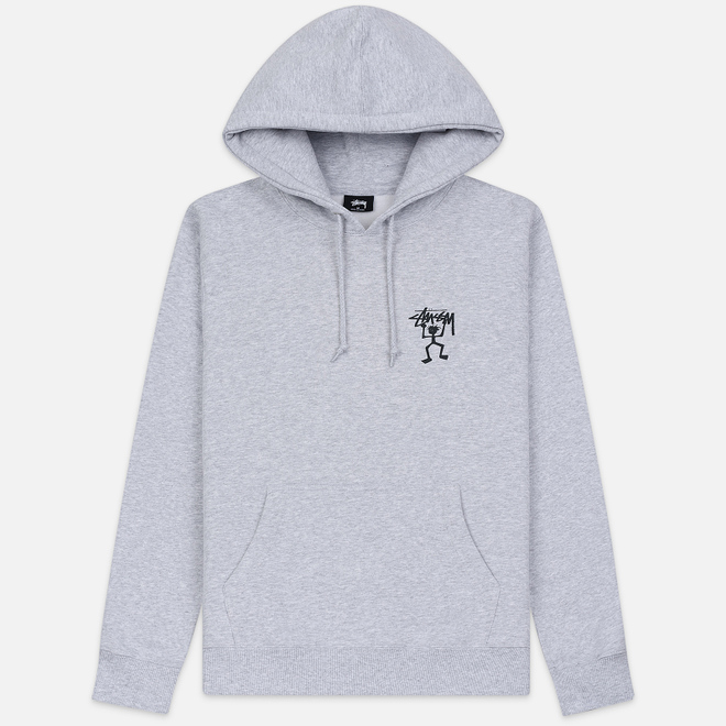 Мужская толстовка Stussy Warrior Man Hoodie Ash Heather