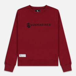 Мужская толстовка Submariner Basic Logo Print Bordeaux