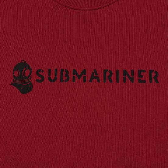 Мужская толстовка Submariner Basic Logo Print Bordeaux
