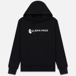 Мужская толстовка Submariner Basic Logo Print Hoodie Black