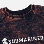 Submariner Biostone Wash Men`s Sweatshirt Purple Rusty photo- 1