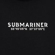 Мужская толстовка Submariner Coordinates Logo Print Hoodie Black фото- 2