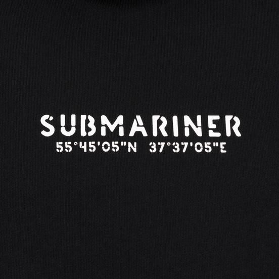 Мужская толстовка Submariner Coordinates Logo Print Hoodie Black