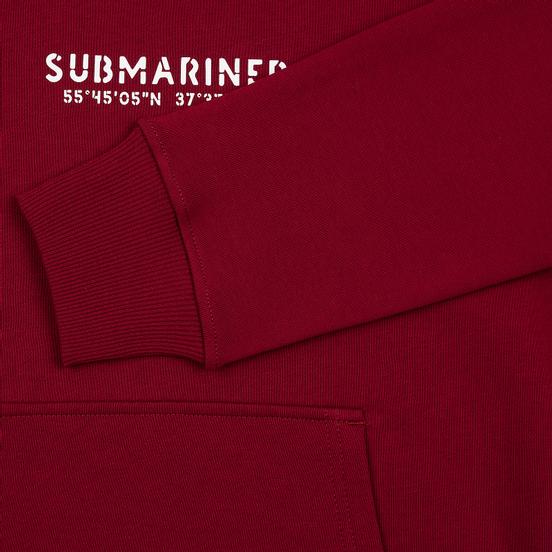 Мужская толстовка Submariner Coordinates Logo Print Hoodie Bordeaux