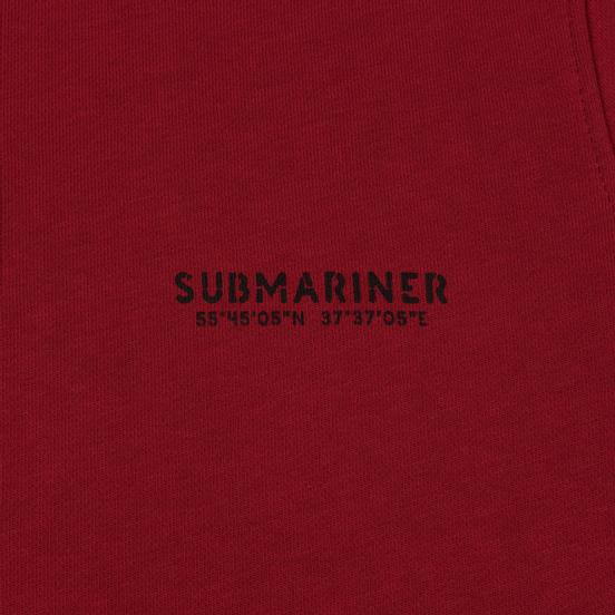 Мужская толстовка Submariner Main Logo Print Bordeaux