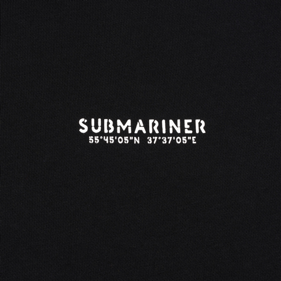 Мужская толстовка Submariner Main Logo Print Hoodie Black