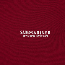 Мужская толстовка Submariner Main Logo Print Hoodie Bordeaux фото- 2