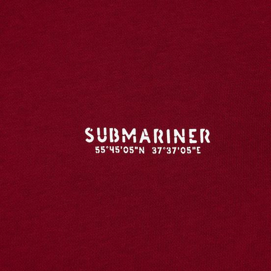 Мужская толстовка Submariner Main Logo Print Hoodie Bordeaux