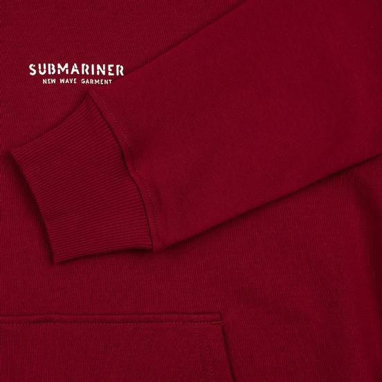 Мужская толстовка Submariner New Wave Print Hoodie Bordeaux