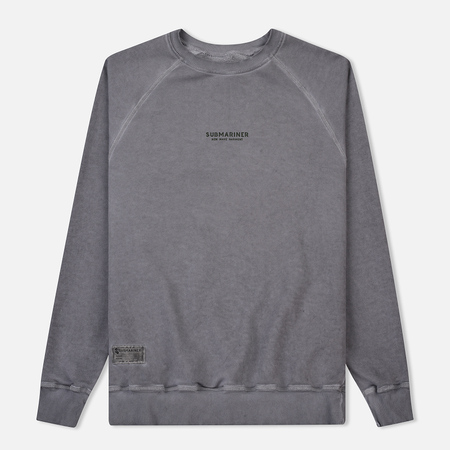 Мужская толстовка Submariner Reglan Garment Dye Vintage Effect Grey